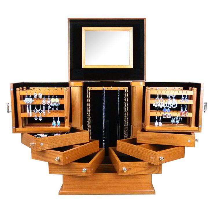 Europa Luxo caixa de Jóias da princesa acessórios de moda super grande caixa de jóias de Madeira caixa de armazenamento de casamento presente Namorada em Jóias Embalagens & Display de Jóias & Acessórios no AliExpress.com | Alibaba Group