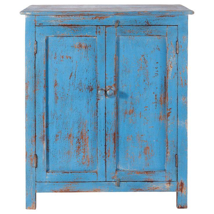 buffet en manguier bleu turquoise l 73 cm avignon maisons du monde indigo pinterest. Black Bedroom Furniture Sets. Home Design Ideas