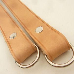 CUIR NATUREL Anses de sac cuir épais (paire) 45 cm
