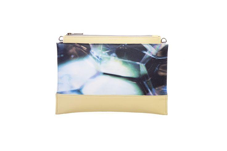 Bodycon clutch / Pastel yellow  & bubble pattern #BLACKLIST #blacklistdesign #clutch #bodyconcollection #leather #digitalprinted #pattern #bubble #budapest