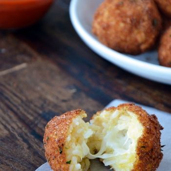 Italian cheesey rice balls. (I have a slight obsession with small spherical deep-fried edibles.)