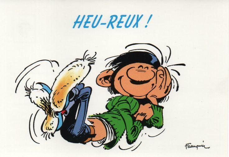Guust Flater postkaart Heu-reux!