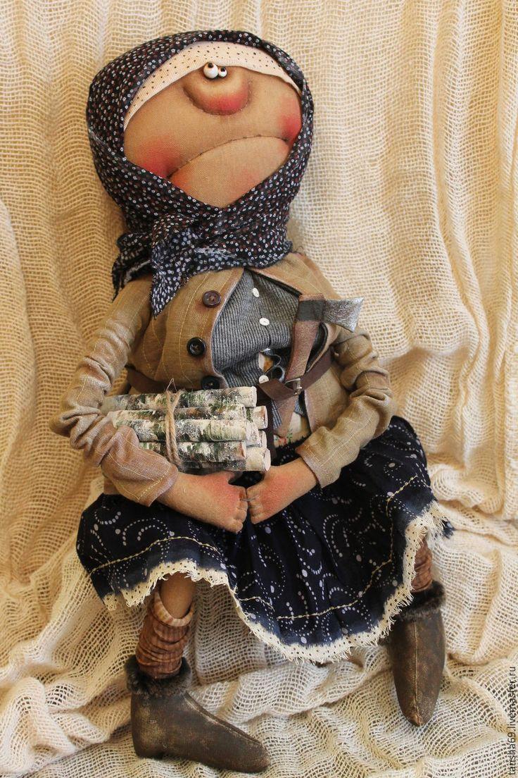 Купить Откуда дровишки?... - комбинированный, текстильная кукла, ароматизированная кукла, интерьерная кукла, деревенский стиль