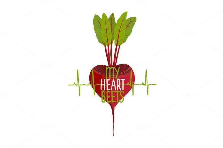 Beetroot Heart Vegetable Dieting by Popmarleo Shop on Creative Market