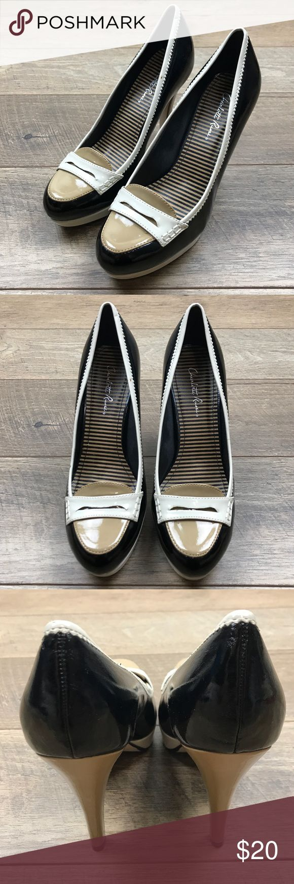 Charlotte Russe 3 Tone Heels Charlotte Russe Heels 3 Tone Heels NWOT. Reference photos listed. Charlotte Russe Shoes Heels