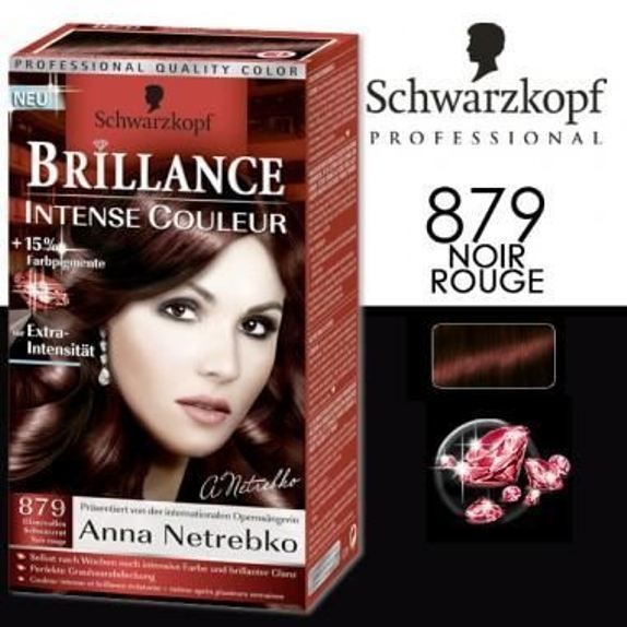 coloration schwarzkopf brillance intense n879 rouge noir neuf - Coloration Schwarzkopf