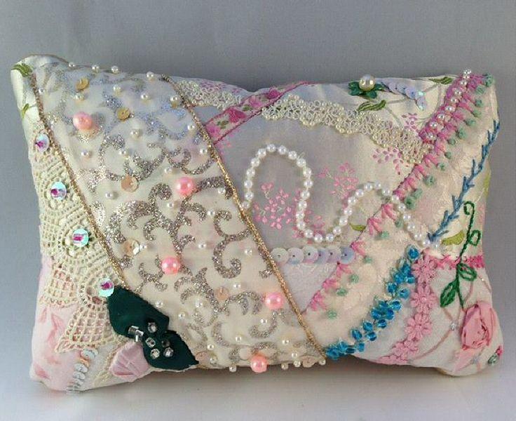 I Crazy Quilting Beading Amp Embroidery Cream Crazy