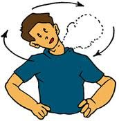 circunducion de la cabeza  jirar la cabeza en su propio eje