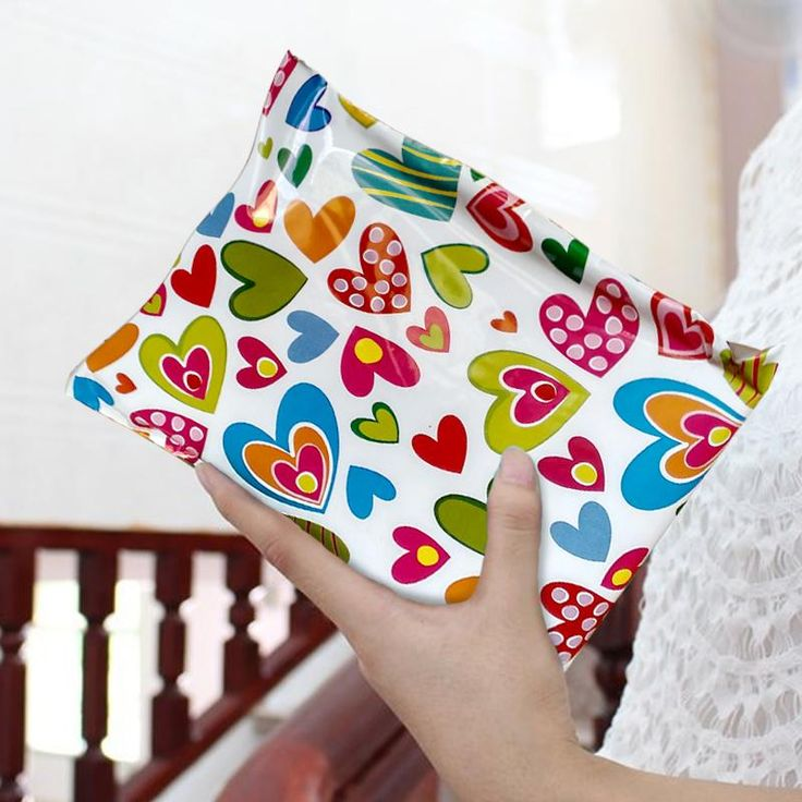 Premium Printed Courier Bags (Hearts)