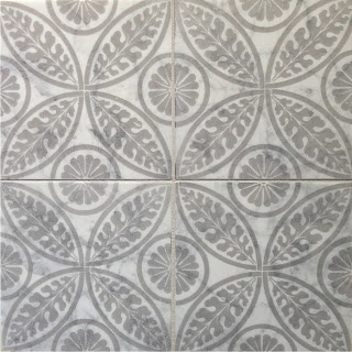 Tile pattern - Urban Cottage Blog. Handmade tiles can be colour coordinated and customized re. shape, texture, pattern, etc. by ceramic design studios