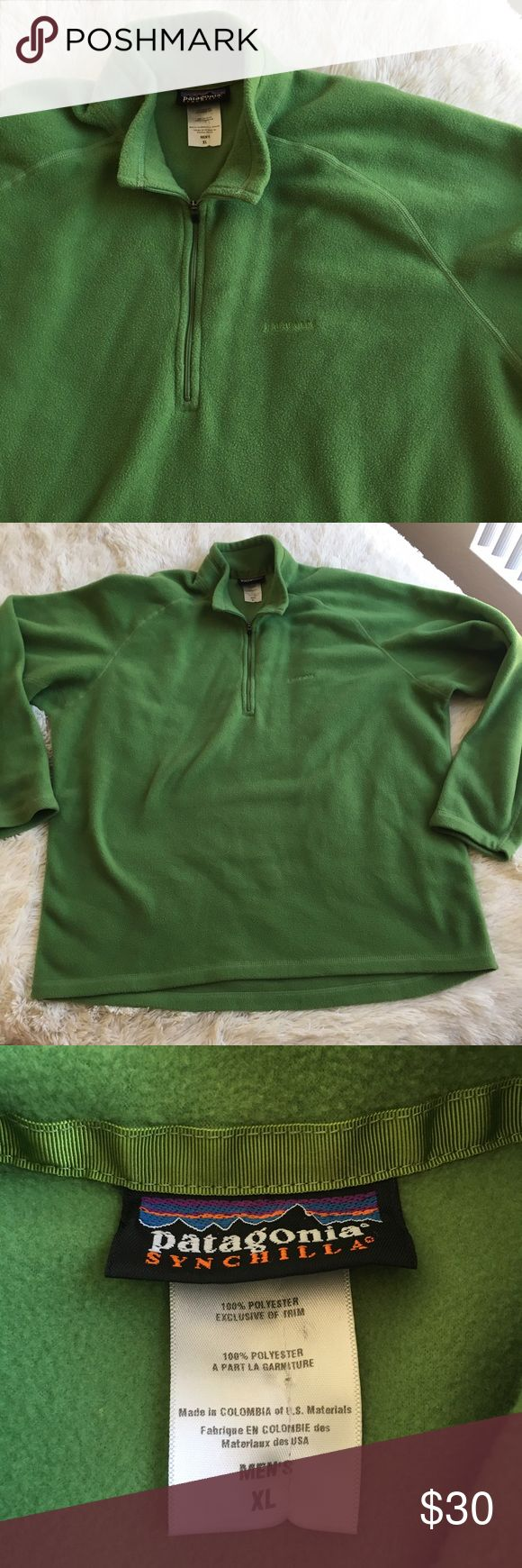 Patagonia Synchilla Green Fleece 1/4 Zip Pullover EUC. No stains or tears. Patagonia Sweaters