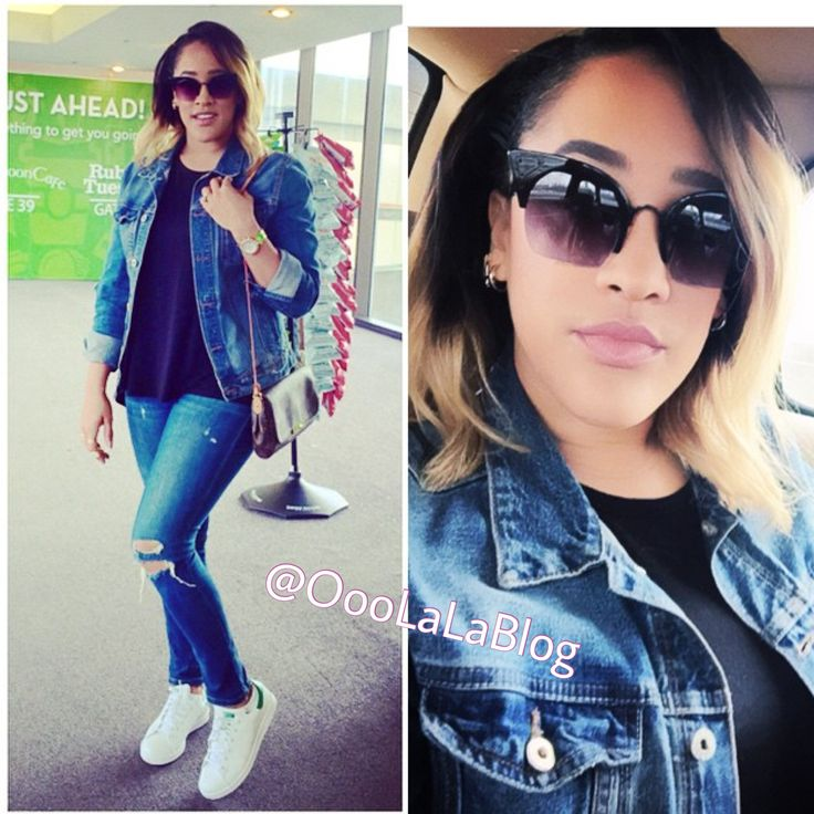 Natalie Nunn looking fly in denim and spotted at Newark Liberty International Airport earlier  #OooLaLaBlog #NatalieNunn #realitystars #BGC #BGC4 #MarriageBootCamp #celebritiessotted #Newark #NewarkAirport #Jersey #onthemove