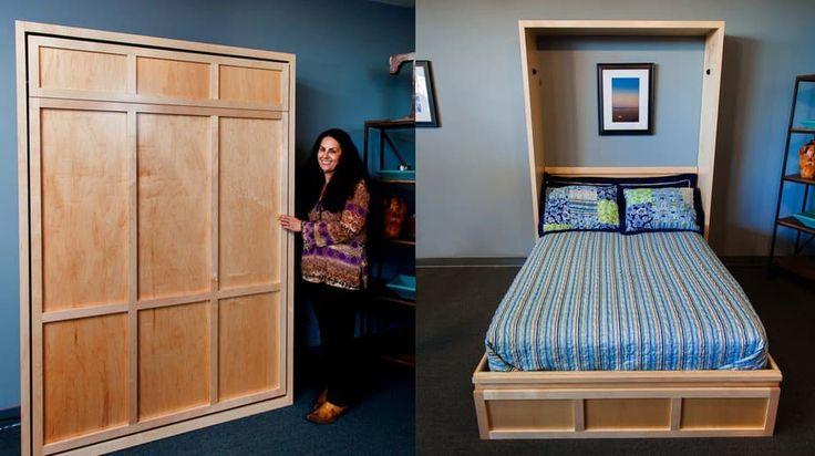 Our wood wall beds look great. The Furniture in the Raw Contemporary Murphy Bed is a cinch to open and close. Made in Texas.