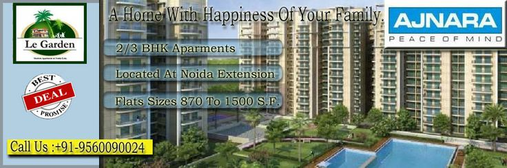 Ajnara India presents new residential project Ajnara Le Garden at Noida Extension. If you want to buy 2 and 3 bhk flats then call us : 9560090024 or visit : http://www.ajnaralegardennoida.org.in/