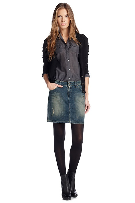 Jean Skirt With Boots 64