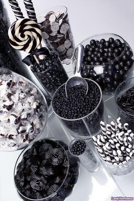 Black Candy Buffet! Dessert table