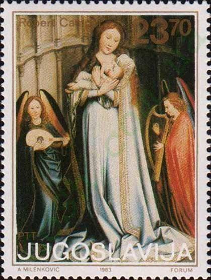 """""""Дева Мария из Саламанки"""", Робер Кампен (1375-1444),"""
