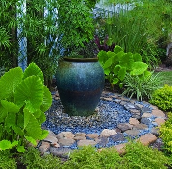 17 best images about garden water features on pinterest for Front garden feature ideas