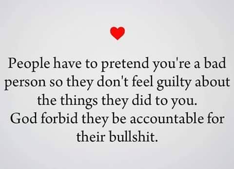 "#narcissist who #gaslight: pretend that other people are bad - i.e. it was the ""weird"" boyfriend for kicking her out, after she had laughed at him in front of his parents."