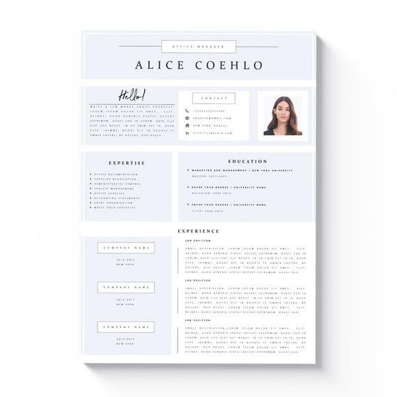 Modern Resume Template 4 Seite Lebenslaufvorlage Kreativer Lebenslauf Lebenslauf Ideen