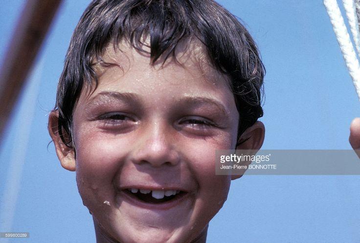 Nicolas Charrier, le fils de Brigitte Bardot, à La Madrague en août 1967, à Saint-Tropez, France.