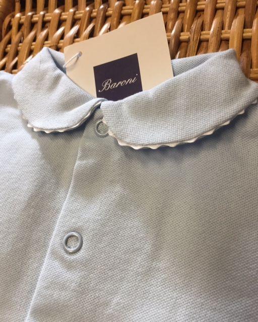 www.mamibu.com  #tutina #neonato in #cotone disponibile anche nel color #bianco e #rosa. #Babygrow #babyboy #baroni #madeinitaly  #mamibu #abbigliamento #neonati #bambini