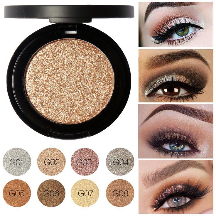 Baru profesional glitter mata pigmen focallure tunggal eyeshadow palet mineral makeup mata tahan air