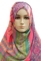 Light Hijab Maxi Bright-Pink