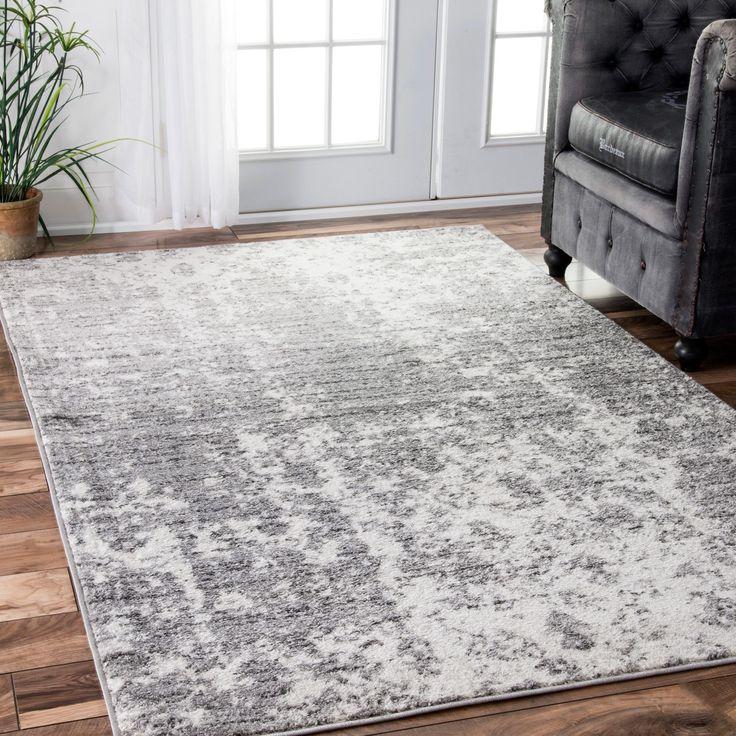 nuLOOM Contemporary Granite Mist Shades Grey Rug (8'6 x 11'6) (Grey), Size 9' x 12' (Plastic, Solid)