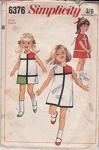 #VINTAGE 1960s #SEWING #PATTERN CHILD'S ONE-PIECE DRESS SIZE 4 #739 | eBay