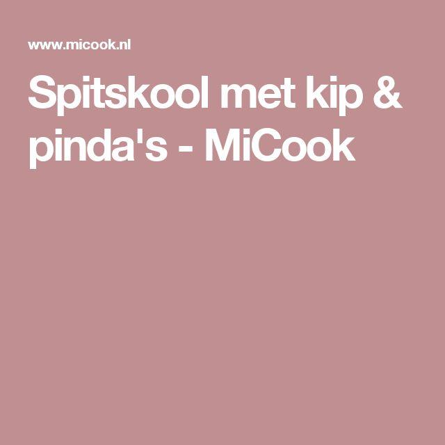 Spitskool met kip & pinda's - MiCook