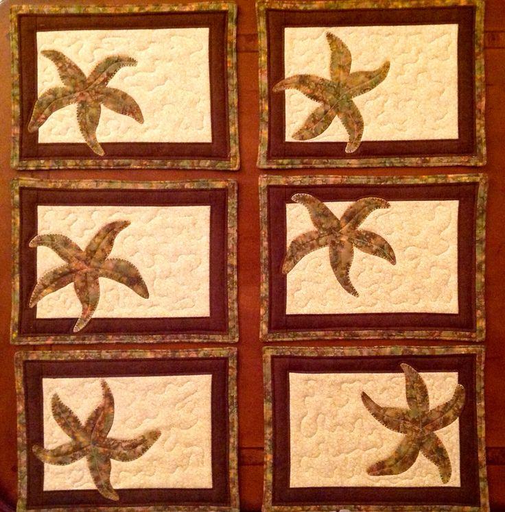 Starfish mug mats.