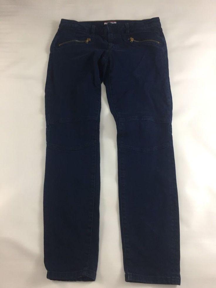 Tommy Hilfiger Womens Skinny Jeans Size 6 Zipper Pockets Dark Wash 30X30 #TommyHilfiger #ZipperSlimSkinny