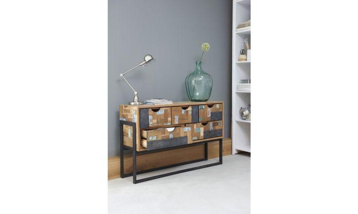 Carbon. Hoog dressoir met 1 deur, 4 laden en 2 open vakken.   http://www.winjewanje.nl/hoog-dressoir-1-deur-4-laden-2-open-vakken
