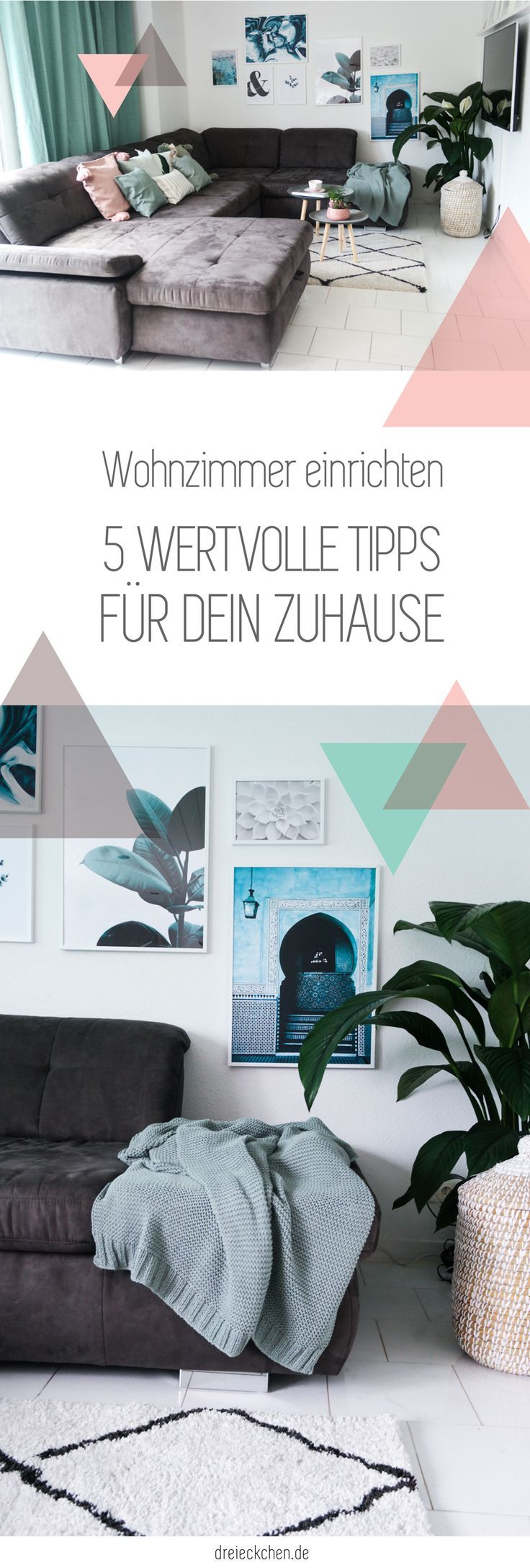 Wohnzimmer einrichten und gemütlich machen – Inspirationen für dein Zuhause // Werbung