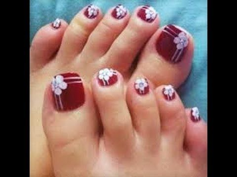 uñas pies decoradas
