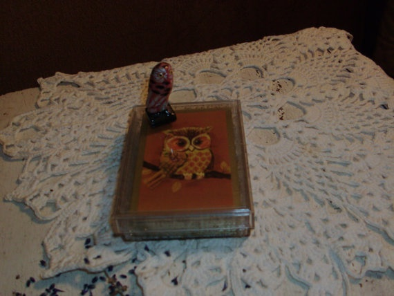 Plastic Coated Owl Pinochle Cards & by LostAtticTreasures on Etsy, $5.35