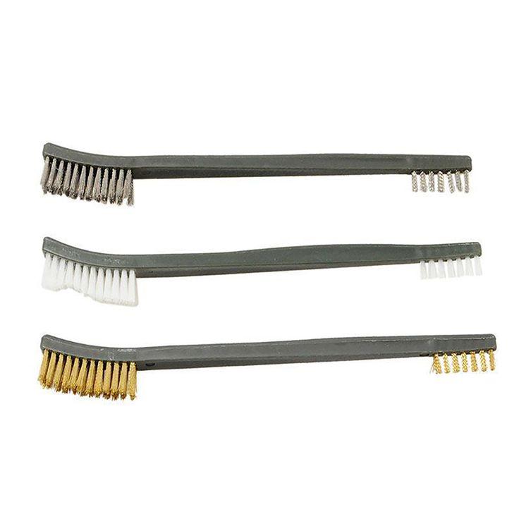 New 3pcs/Set Brush Cleaning Kit Airsoft For Hand Gun Hunting Tactical Shortgun Rifle Cleaning Tool Set