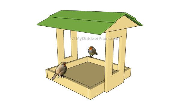 Platform Bird Feeder Plans | Free Outdoor Plans - DIY Shed, Wooden Playhouse, Bbq, Woodworking Projects