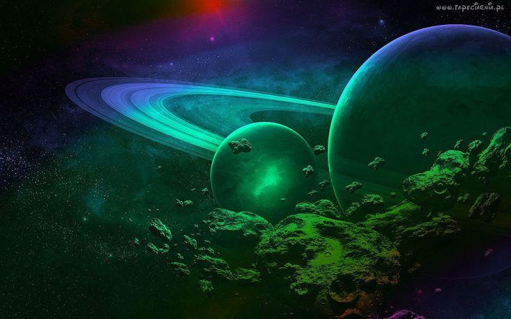 Grafika, Kosmos, Planety, Abstrakcja