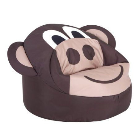 BazZoo® Kids Bean Bags   Large MONKEY Kids Bean Bag   Animal Bean Bags:
