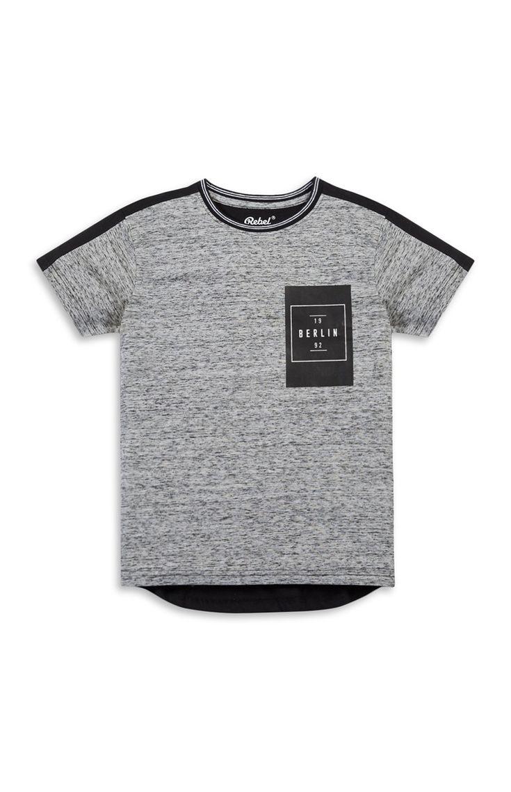 Primark - Older Boy Grey Fleck Top
