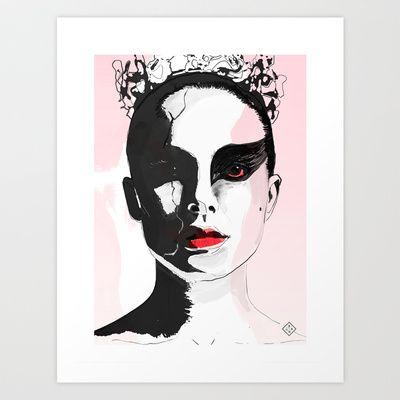 Black Swan 2 Art Print by Brito78 - $22.88
