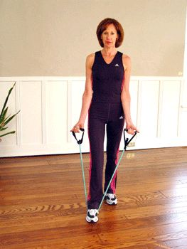 Break out your resistance band to tone your biceps!