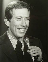 """Howard Andrew """"Andy"""" Williams - Dec.3,1927- Sept.25,2012  popular music singer. He recorded seventeen Gold-and three Platinum-certified albums. He hosted The Andy Williams Show, a TV variety show, from 1962 to 1971, as well as numerous television specials."""
