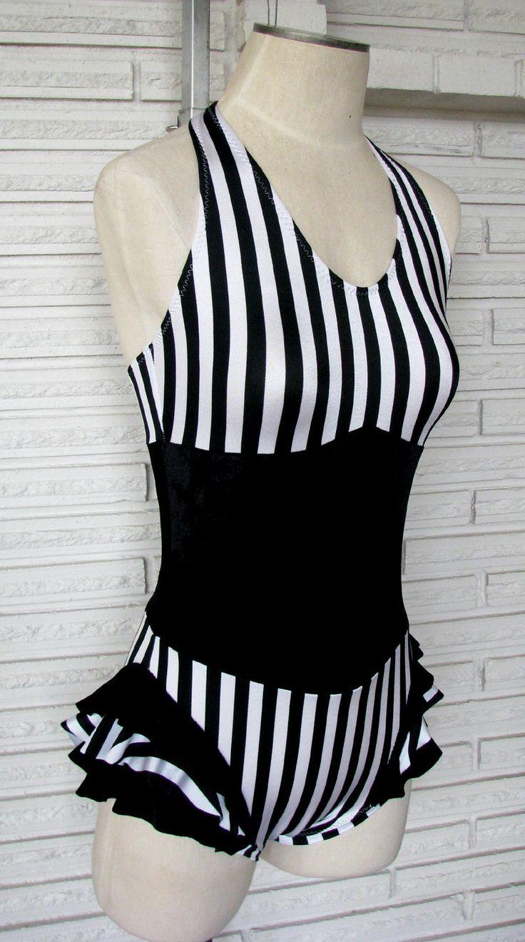 Vertical Stripe Cirque Leotard Bodysuit Aerial Costume, Custom Made. $70.00, via Etsy.