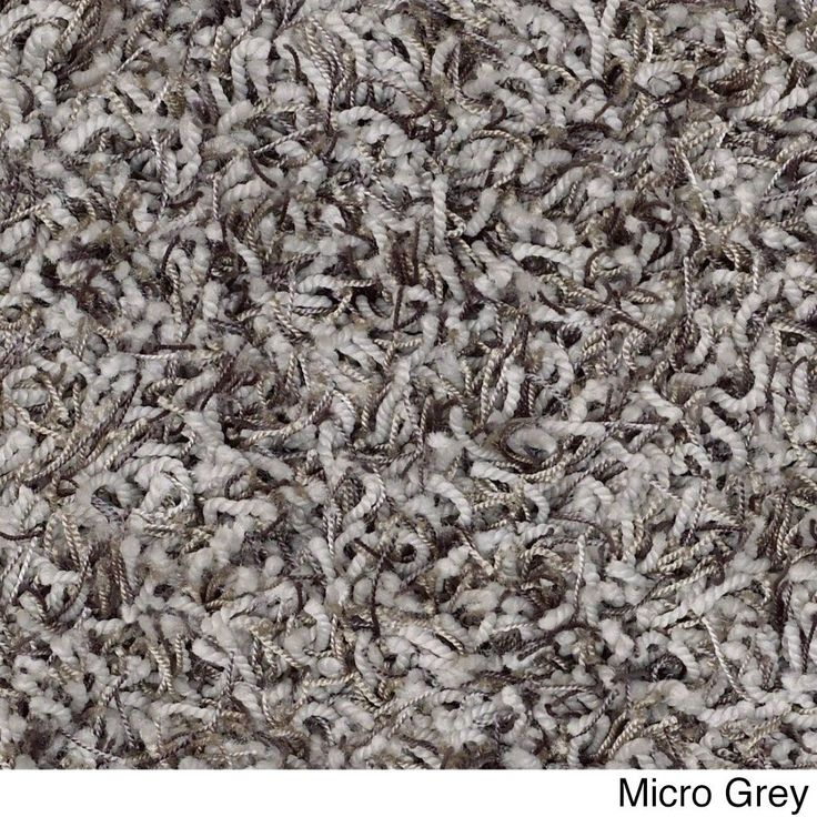 """Shaw Bling Collection Super Shag Oversized Area Rug (12' Round) (Z6809-554 Micro Gray), Black, Size 11'9"""" x 11'9"""" (Nylon, Solid)"""