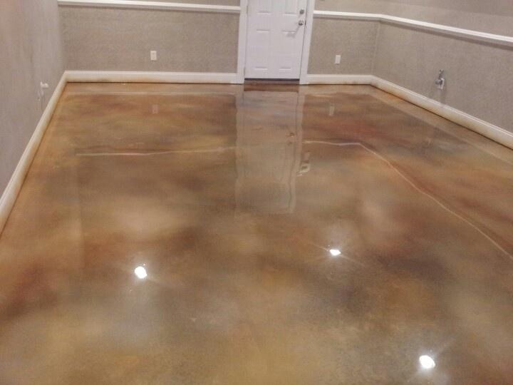 Decorative Concrete Acetone Dye Job Creative Epoxy