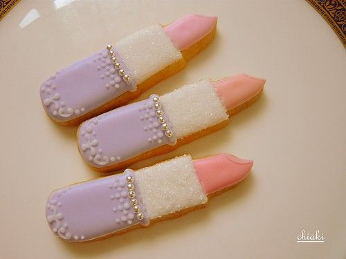 lipstick cookies... perfect for a girly girl party.