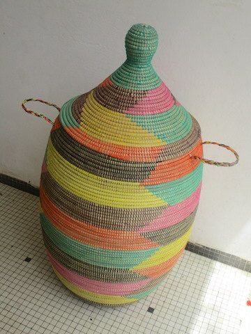 Santa Fe New Mexico Style  XXL Hamper by africanbaskets on Etsy